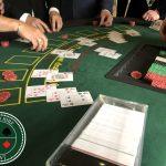 People playing blackjack in Casino Kent