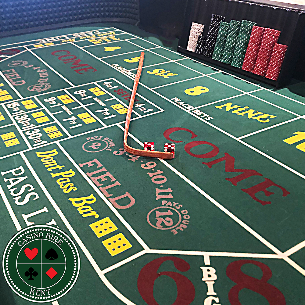 Fun casino hire Kent craps table